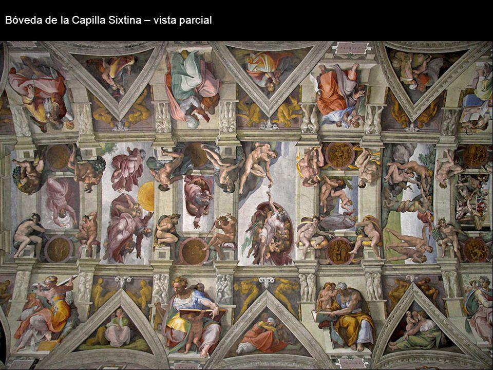 Estructura: Bóveda de la Capilla Sixtina – vista parcial