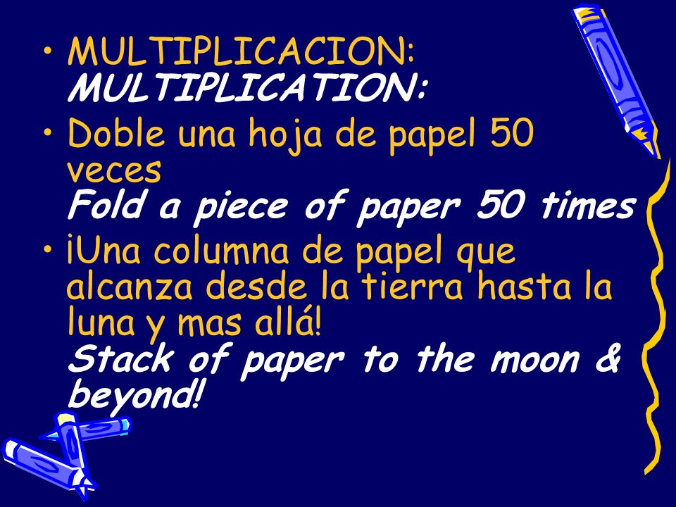 MULTIPLICACION: MULTIPLICATION:
