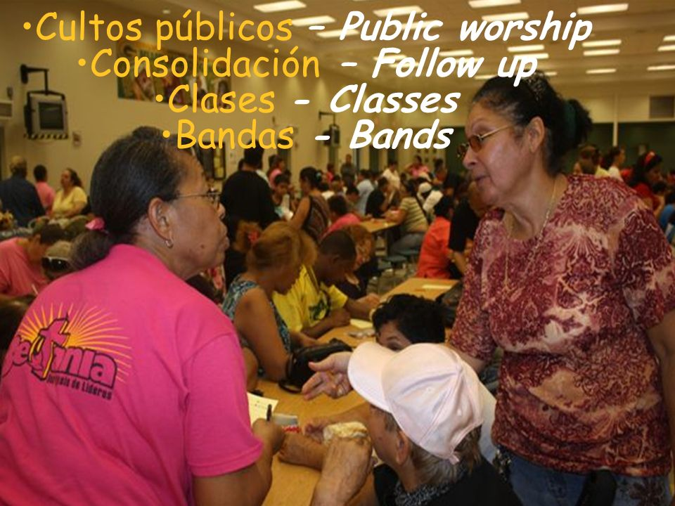 Cultos públicos – Public worship Consolidación – Follow up