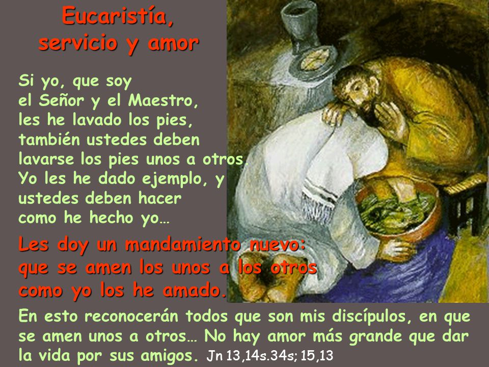 Eucaristía, servicio y amor