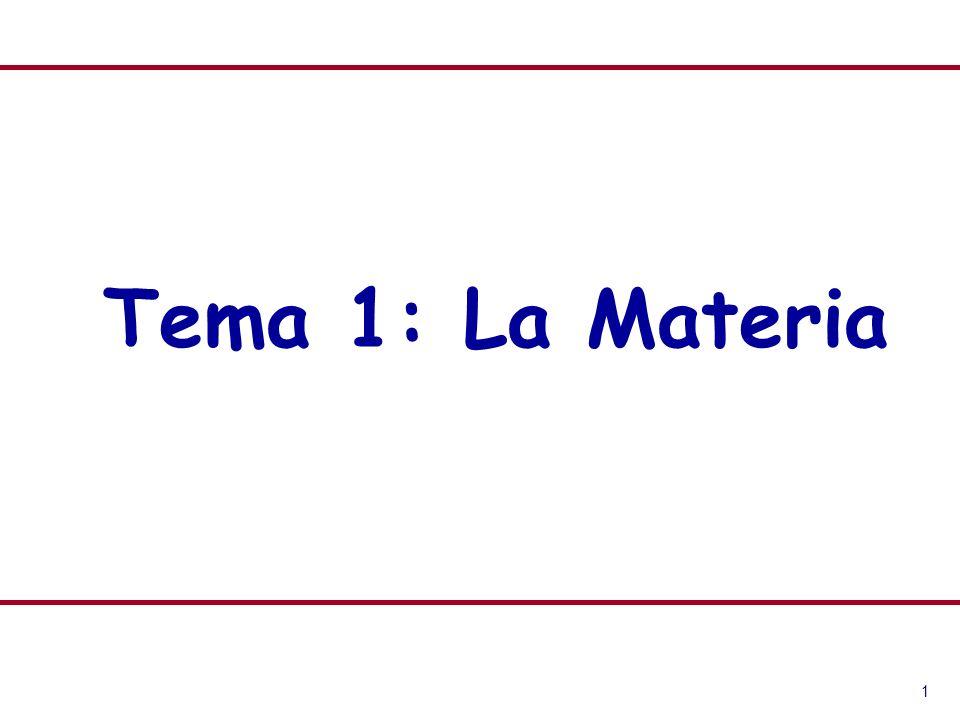 Tema 1: La Materia