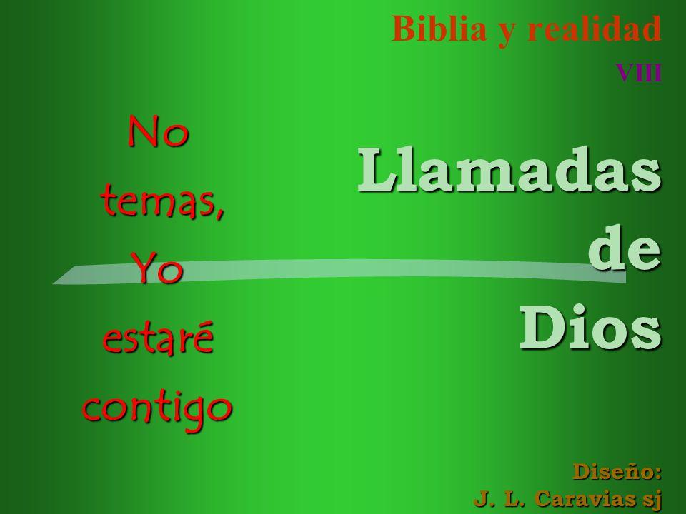 Biblia y realidad VIII Llamadas de Dios Diseño: J. L. Caravias sj