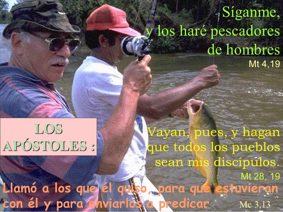 Síganme, y los haré pescadores de hombres LOS APÓSTOLES :