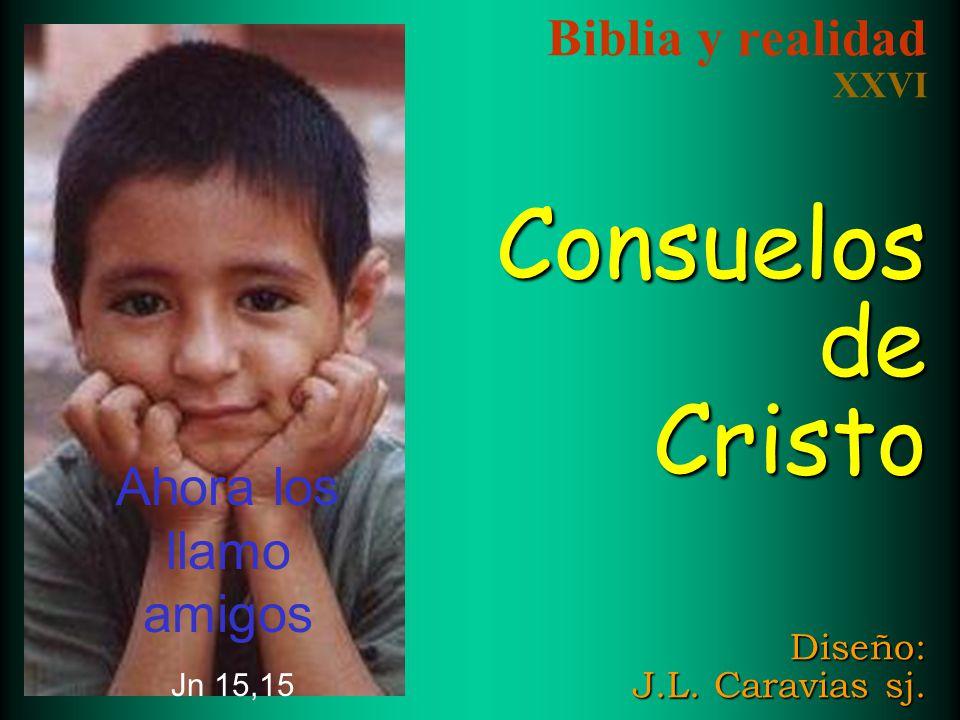 Biblia y realidad XXVI Consuelos de Cristo Diseño: J.L. Caravias sj.