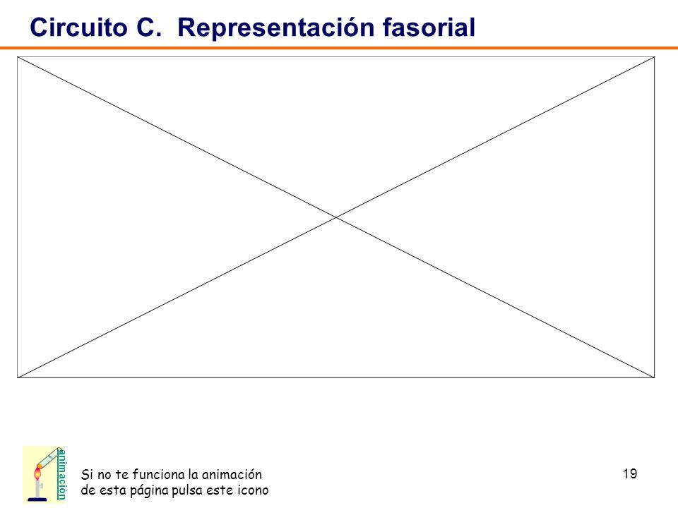 Circuito C. Representación fasorial