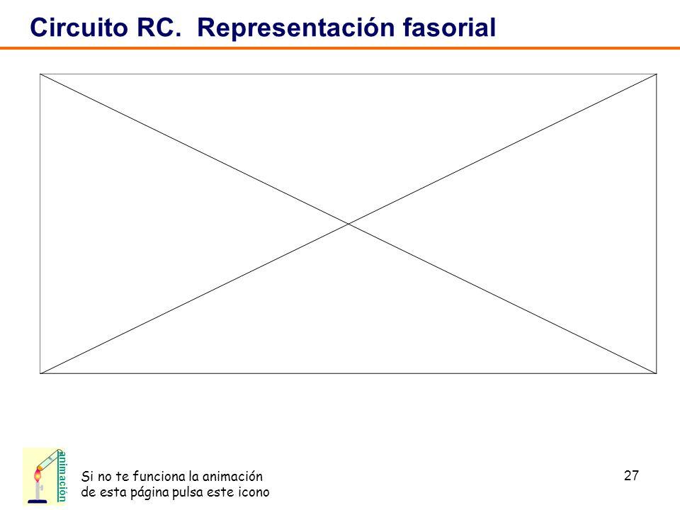 Circuito RC. Representación fasorial