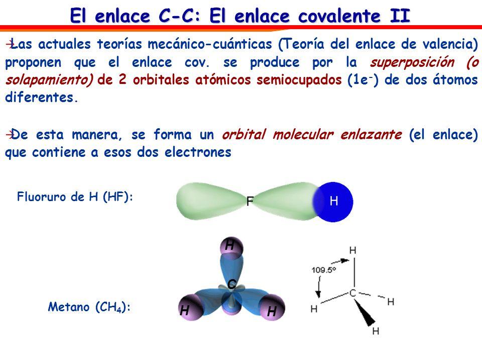 El enlace C-C: El enlace covalente II