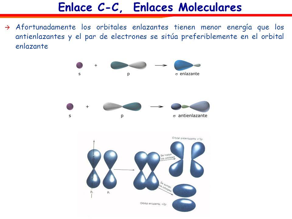 Enlace C-C, Enlaces Moleculares