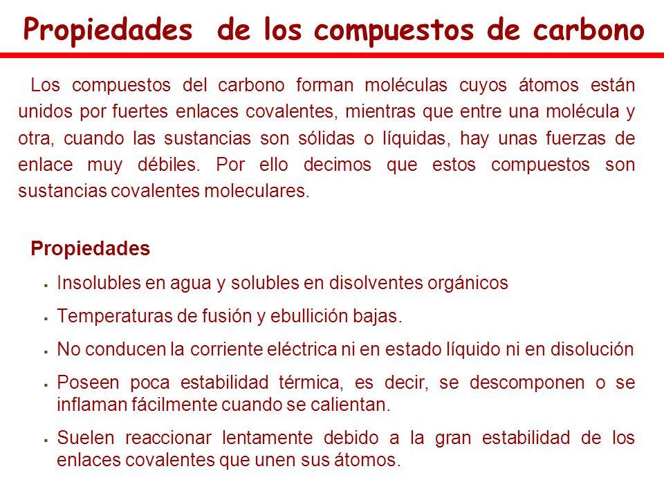 Propiedades de los compuestos de carbono