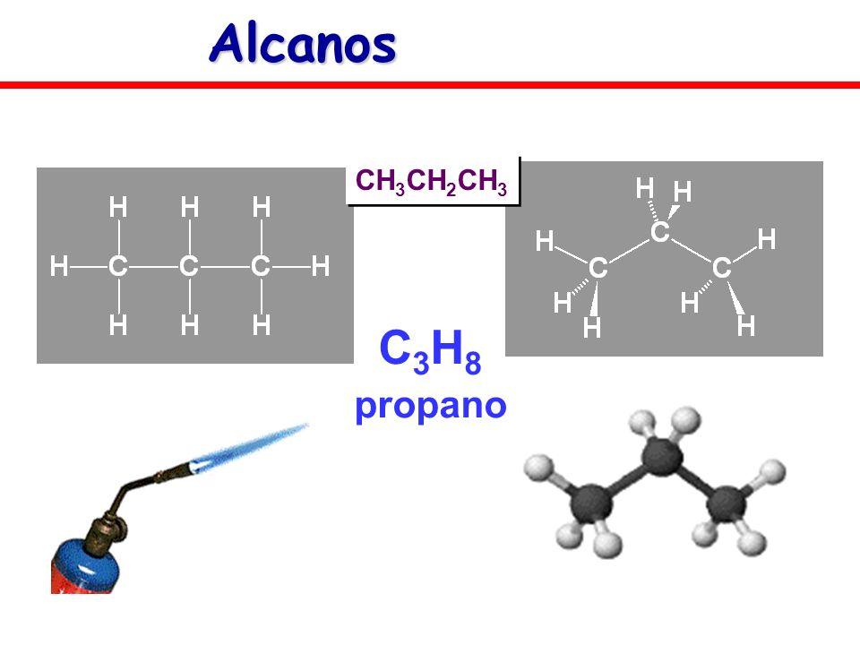 Alcanos CH3CH2CH3 C3H8 propano