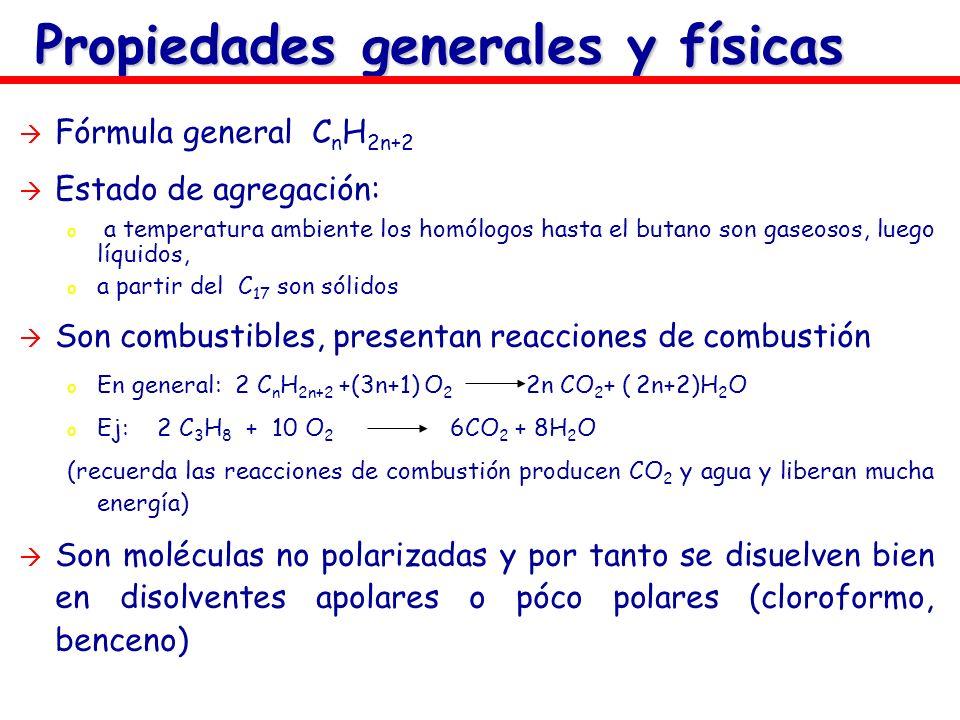 Propiedades generales y físicas