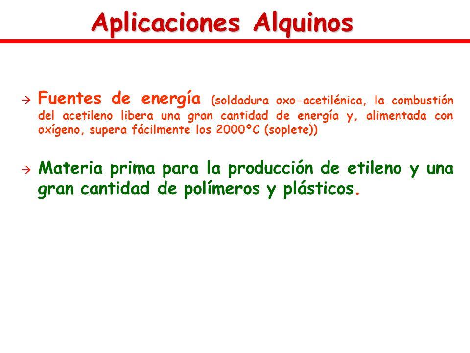 Aplicaciones Alquinos