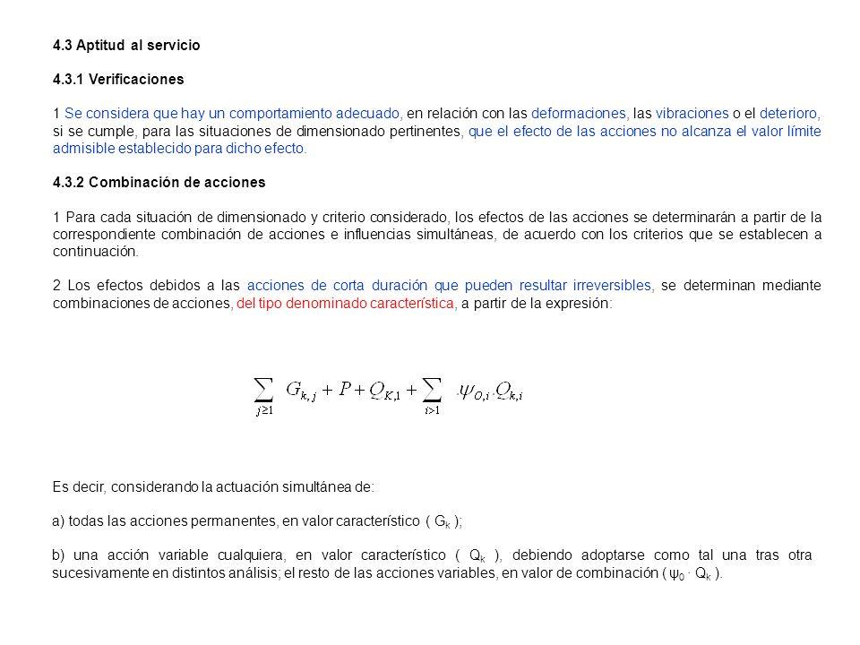 4.3 Aptitud al servicio4.3.1 Verificaciones.