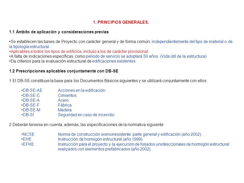 1. PRINCIPIOS GENERALES. 1.1 Ámbito de aplicación y consideraciones previas.