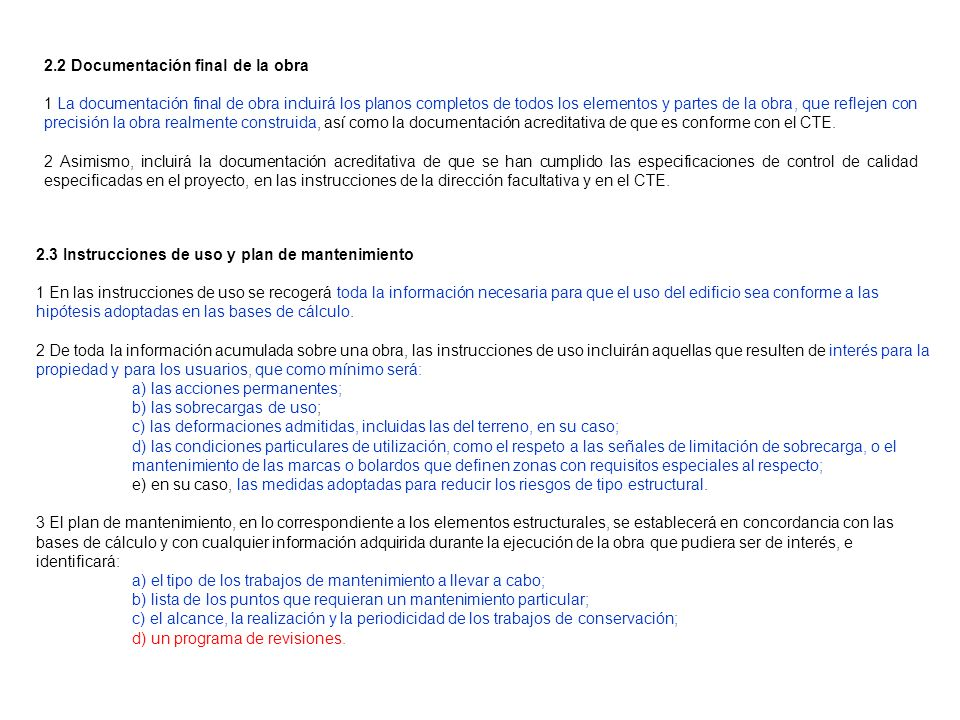 2.2 Documentación final de la obra