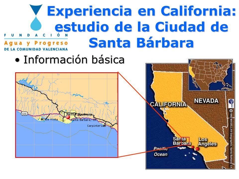 Experiencia en California: estudio de la Ciudad de Santa Bárbara