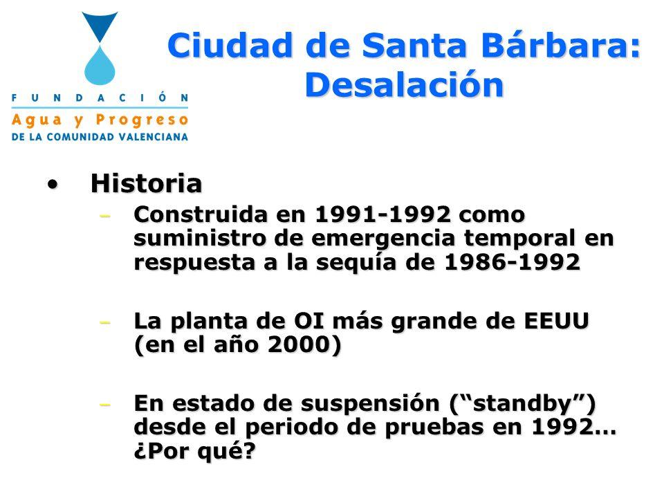 Ciudad de Santa Bárbara: Desalación
