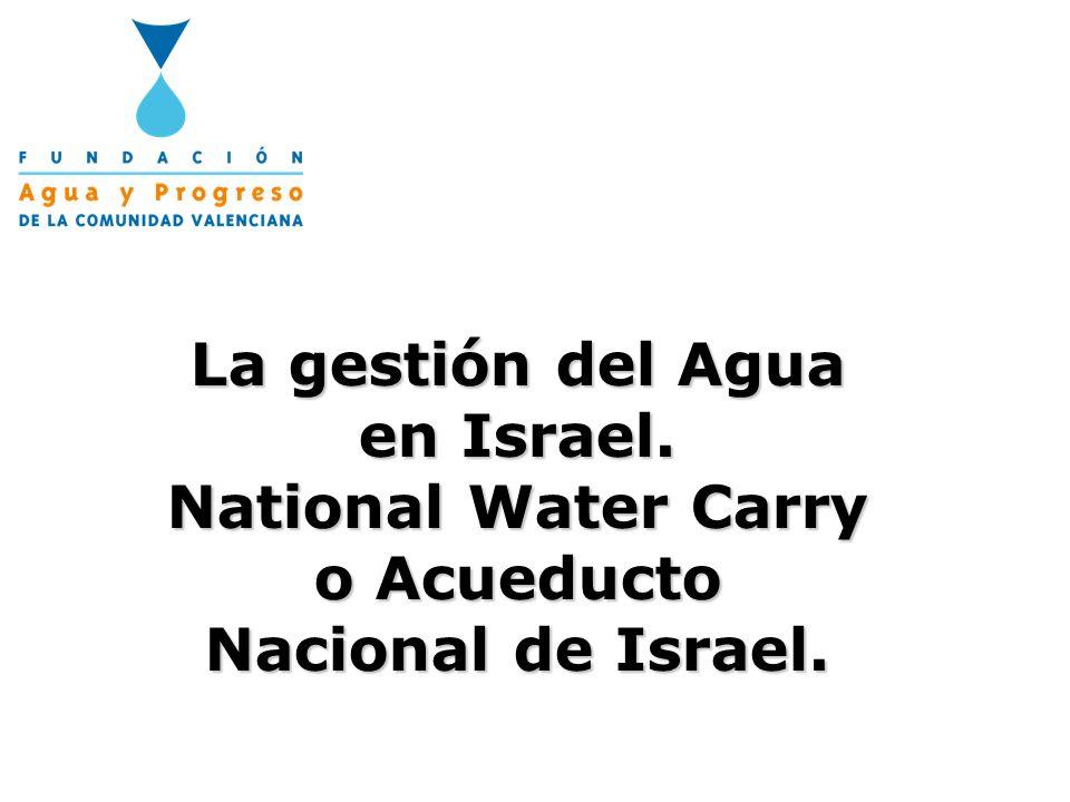 La gestión del Agua en Israel.