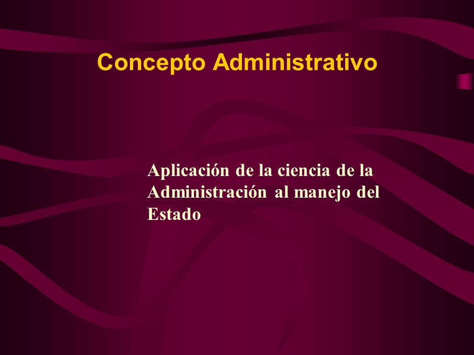 Concepto Administrativo