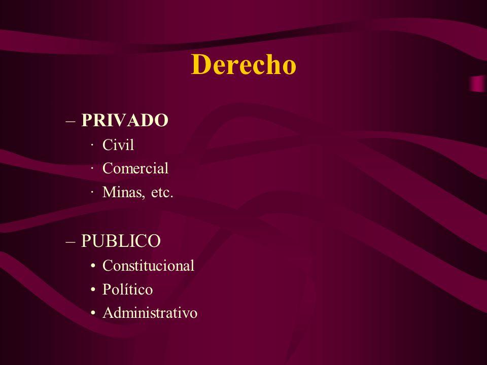 Derecho PRIVADO PUBLICO Civil Comercial Minas, etc. Constitucional