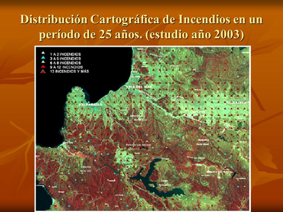 Distribución Cartográfica de Incendios en un período de 25 años