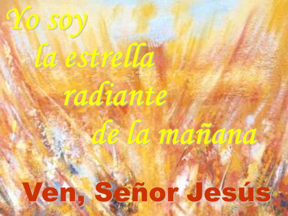 Yo soy la estrella radiante de la mañana Ven, Señor Jesús
