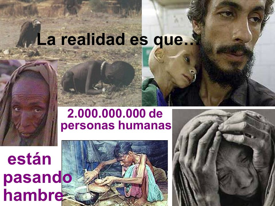 La realidad es que… están pasando hambre 2.000.000.000 de