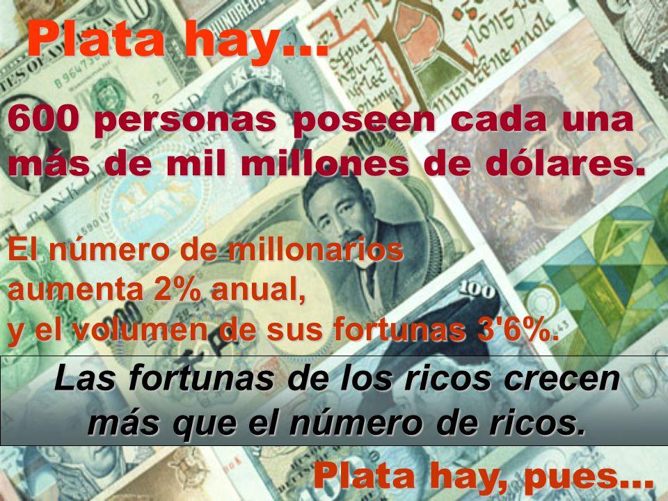 Las fortunas de los ricos crecen más que el número de ricos.