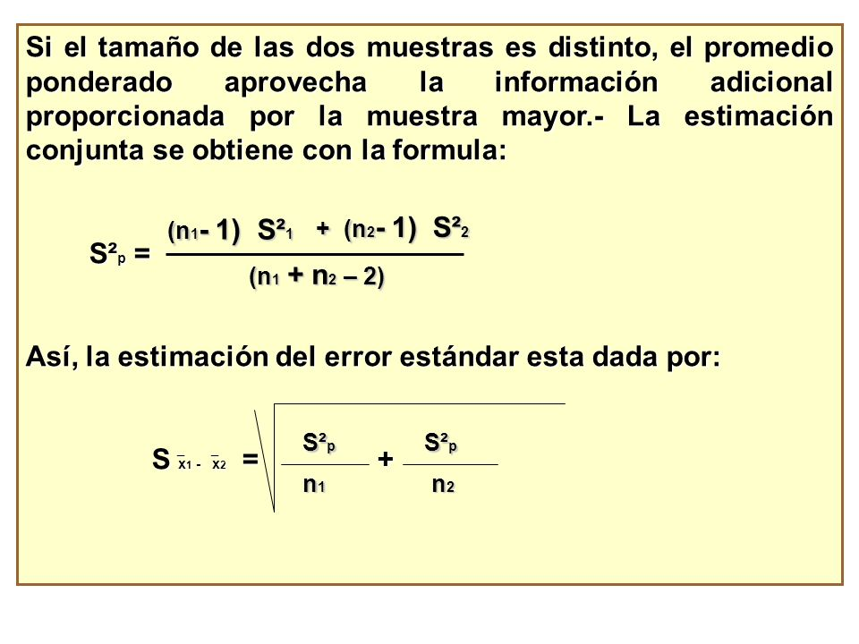 Así, la estimación del error estándar esta dada por: