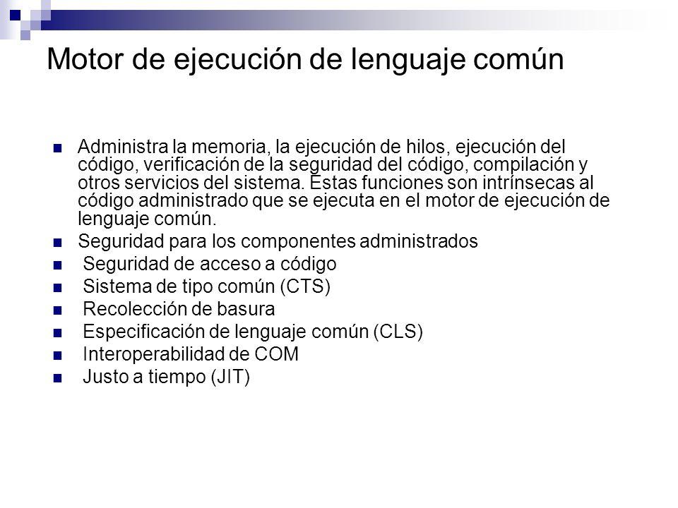 Motor de ejecución de lenguaje común