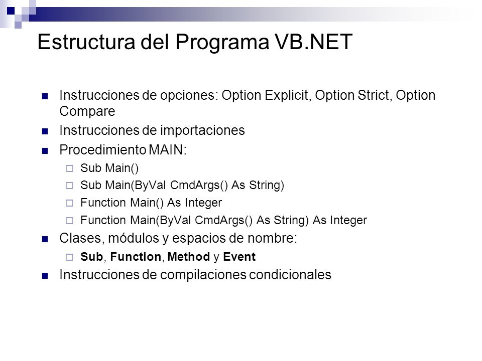 Vb net option compare binary