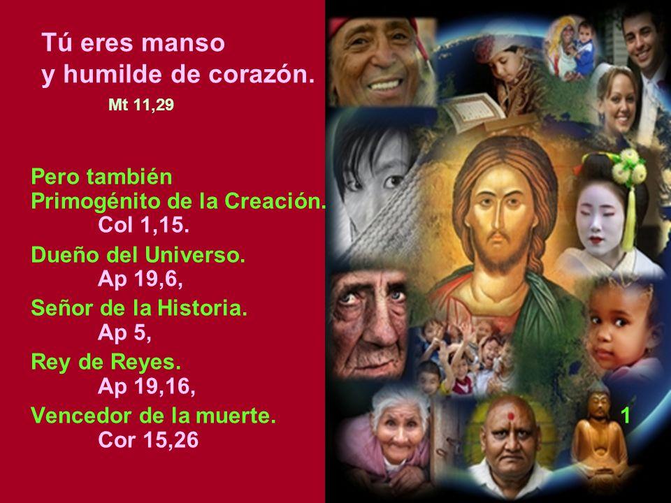 Tú eres manso y humilde de corazón. Mt 11,29