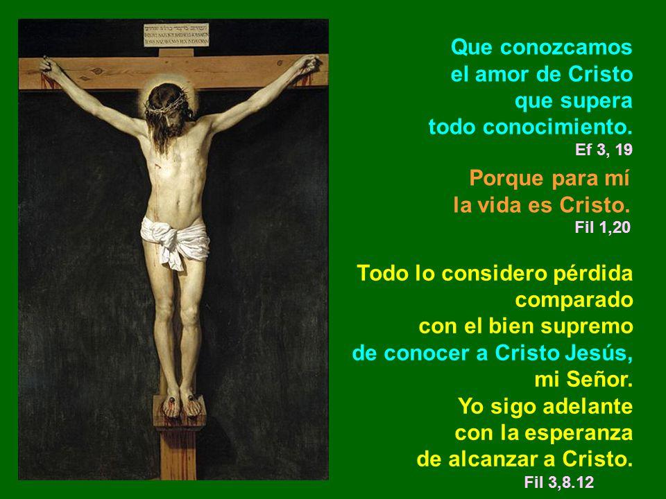Porque para mí la vida es Cristo. Fil 1,20