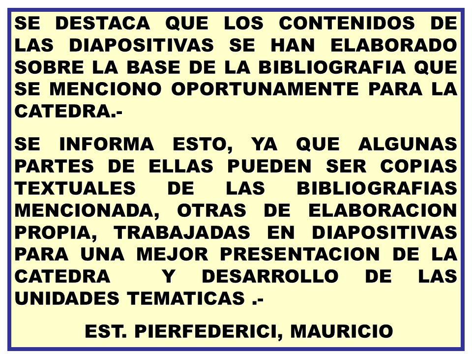EST. PIERFEDERICI, MAURICIO
