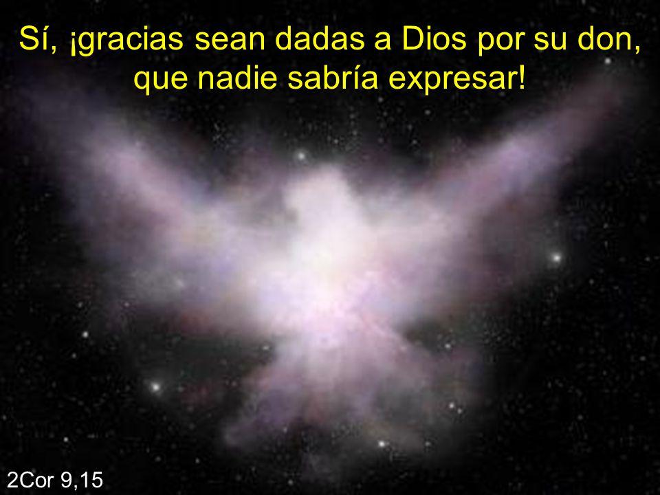 Sí, ¡gracias sean dadas a Dios por su don, que nadie sabría expresar!