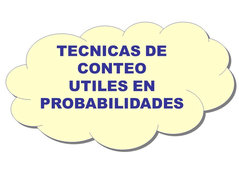 TECNICAS DE CONTEO UTILES EN PROBABILIDADES