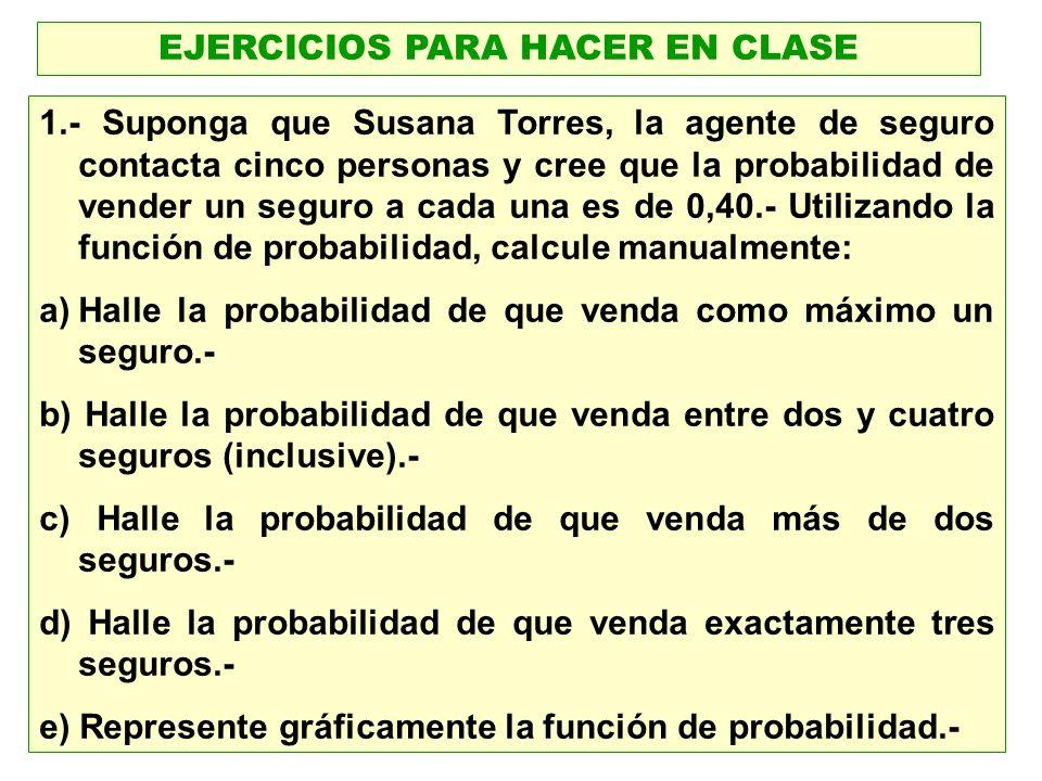 EJERCICIOS PARA HACER EN CLASE