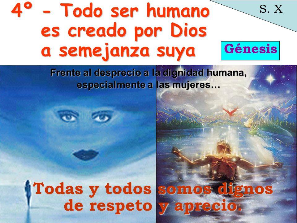 4º - Todo ser humano es creado por Dios a semejanza suya