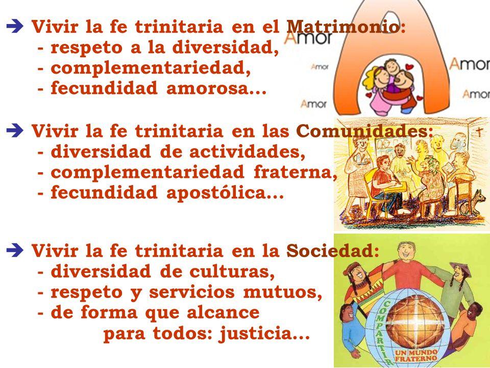  Vivir la fe trinitaria en el Matrimonio: