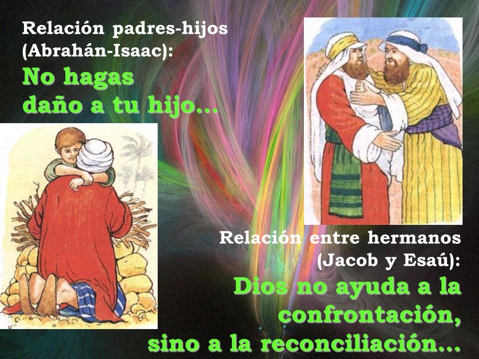 Dios no ayuda a la confrontación, sino a la reconciliación…