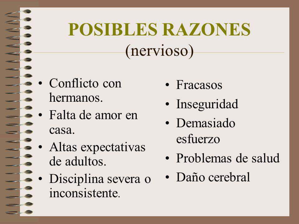 POSIBLES RAZONES (nervioso)