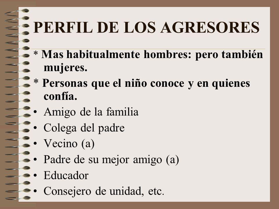 PERFIL DE LOS AGRESORES