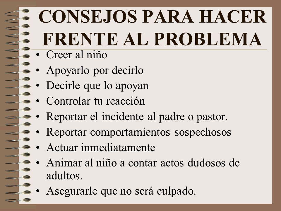CONSEJOS PARA HACER FRENTE AL PROBLEMA