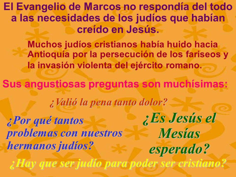 ¿Es Jesús el Mesías esperado