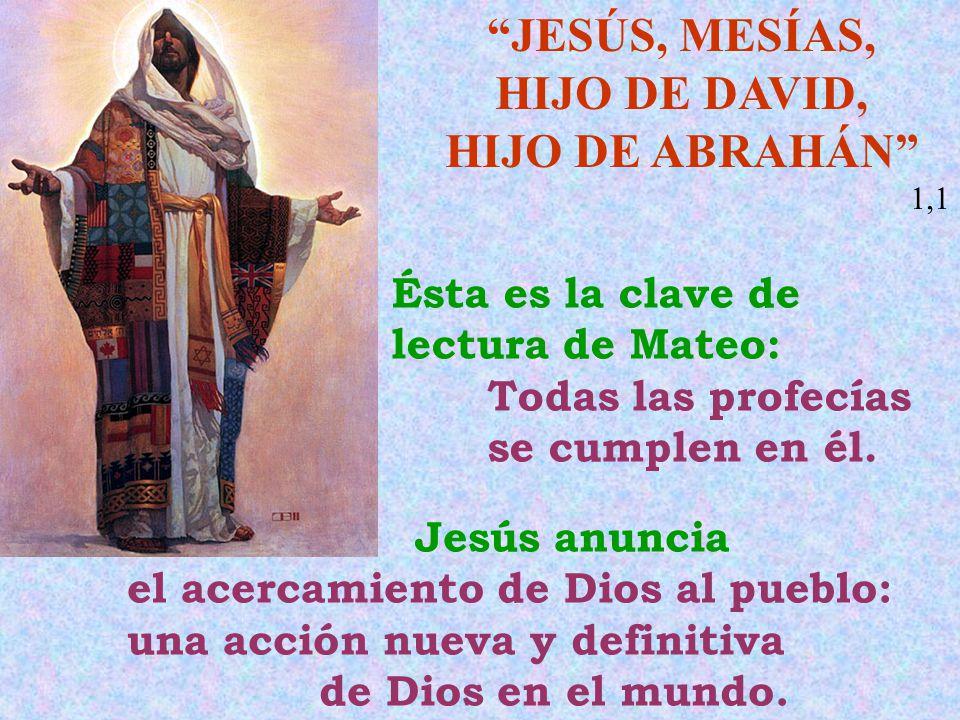 JESÚS, MESÍAS, HIJO DE DAVID,