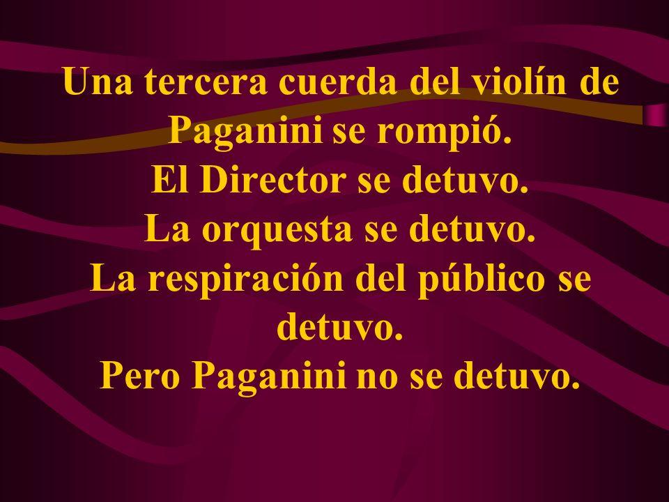 Una tercera cuerda del violín de Paganini se rompió