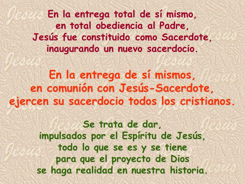 En la entrega de sí mismos, en comunión con Jesús-Sacerdote,