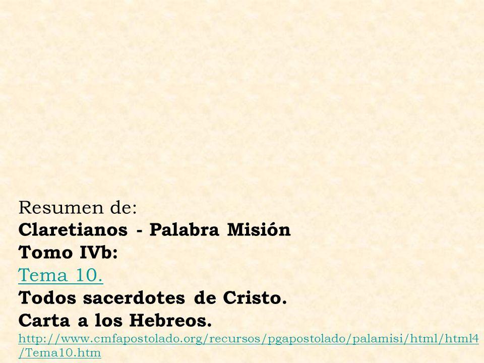 Claretianos - Palabra Misión Tomo IVb: