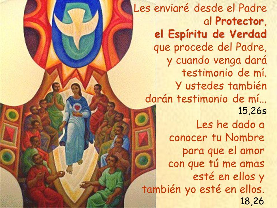 Les enviaré desde el Padre al Protector, el Espíritu de Verdad