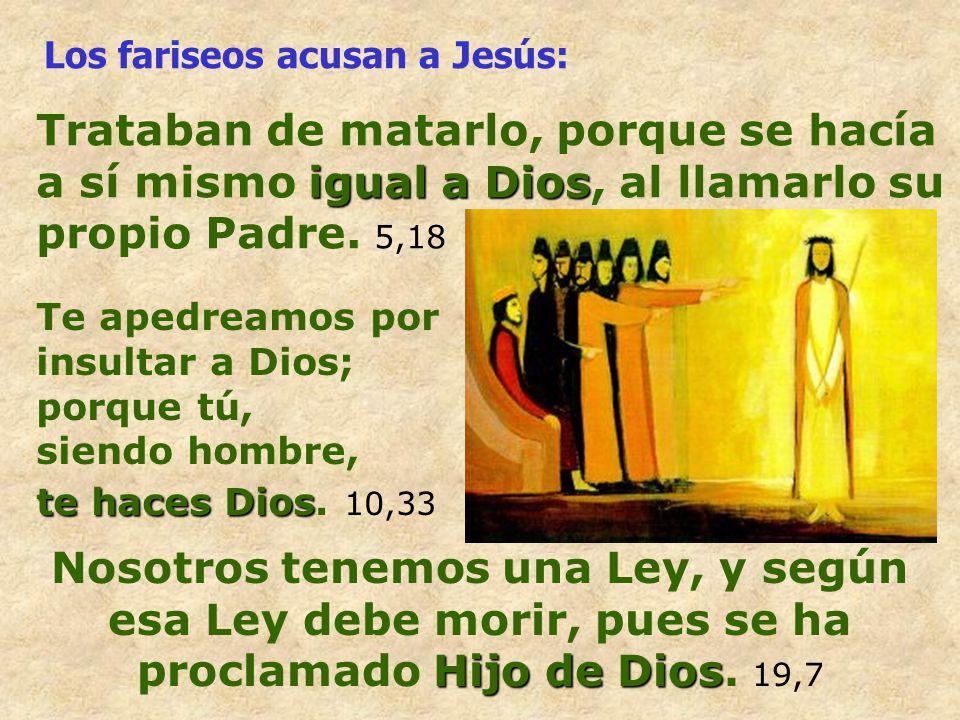 Los fariseos acusan a Jesús: